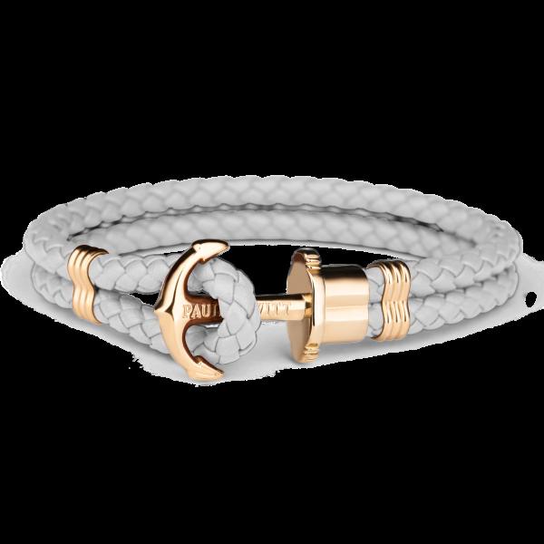 Anchor Bracelet Phrep Gold Leather Grey