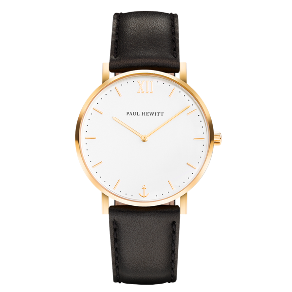 Watch Sailor White Sand Gold Leather Black