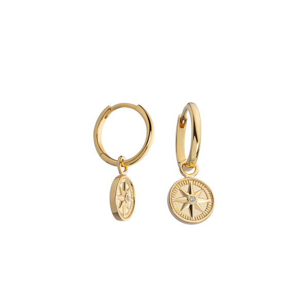Earring Windrose Gold