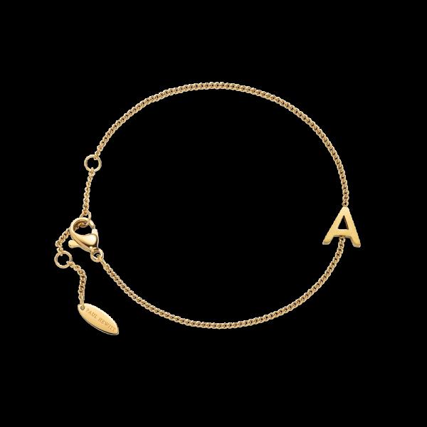 Armkette Love Letter A-Z Gold