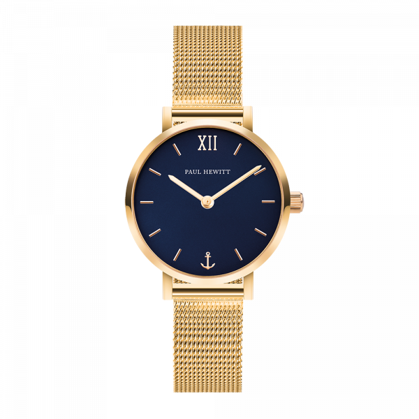 Uhr Modest Blue Lagoon Gold Mesh