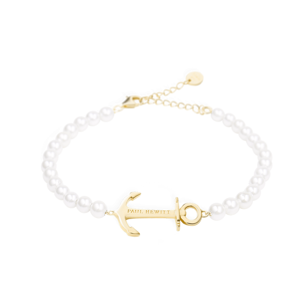 Bracelet Anchor Spirit Gold Pearl