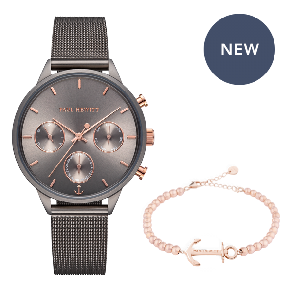Set Perfect Match Everpulse Grey Metallic and Anchor Spirit Rose Gold Steel