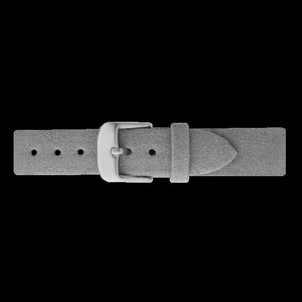 Uhrenarmband Alcantara Silber Grau 16 mm