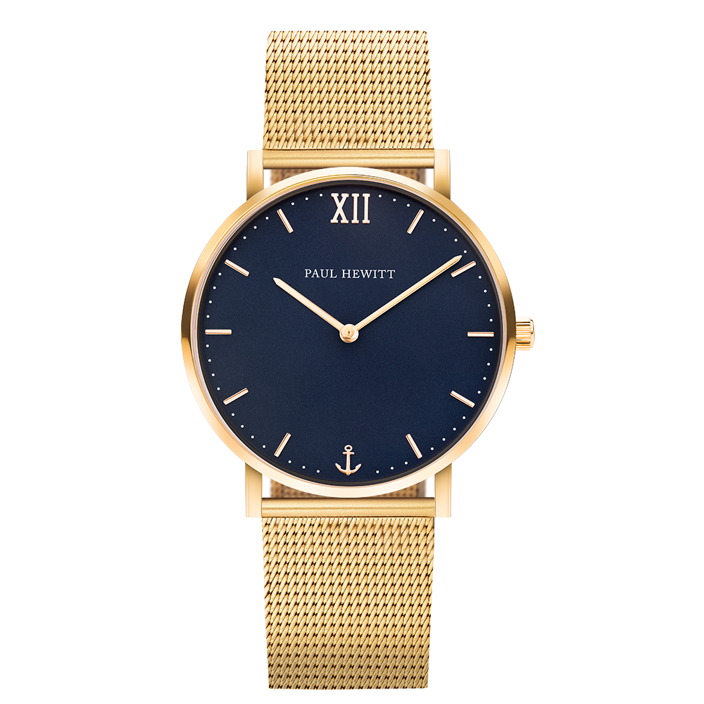Paul Hewitt Uhr Sailor Blue Lagoon 187 Gold 187 Meshband