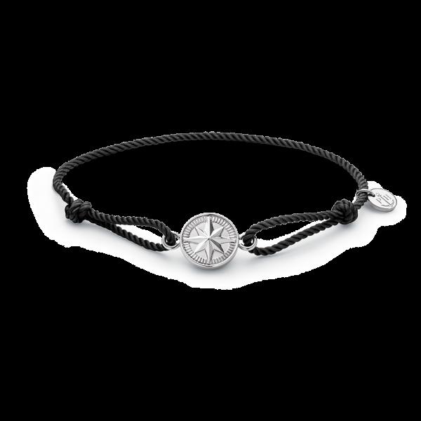 Armband Windrose Silber Black