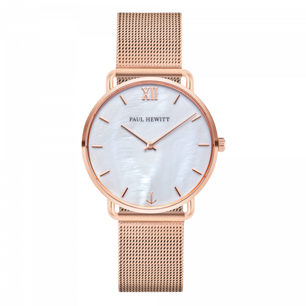 Montre Miss Ocean Pearl Or Rose Mesh