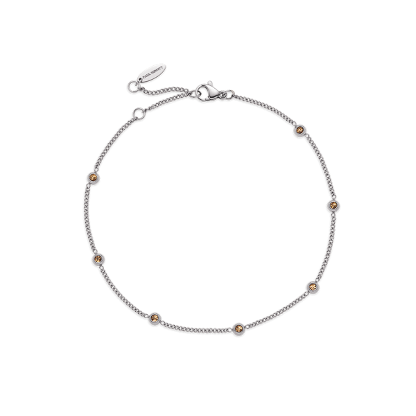 Anklet Rainbow Stones Silver