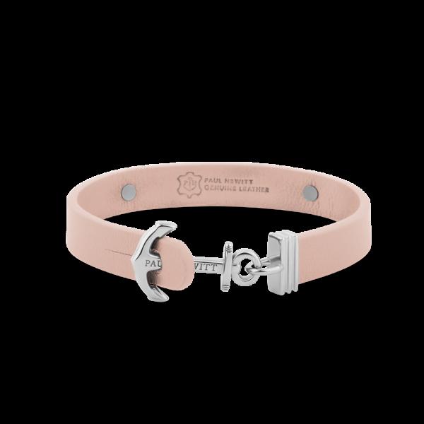 Bracelet Ancre Signum Argenté Cuir Nude