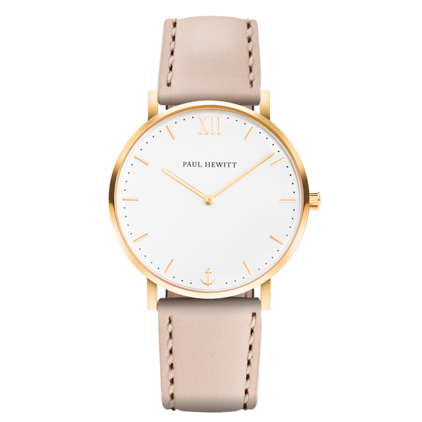 Reloj Sailor White Sand Oro Piel Hazelnut