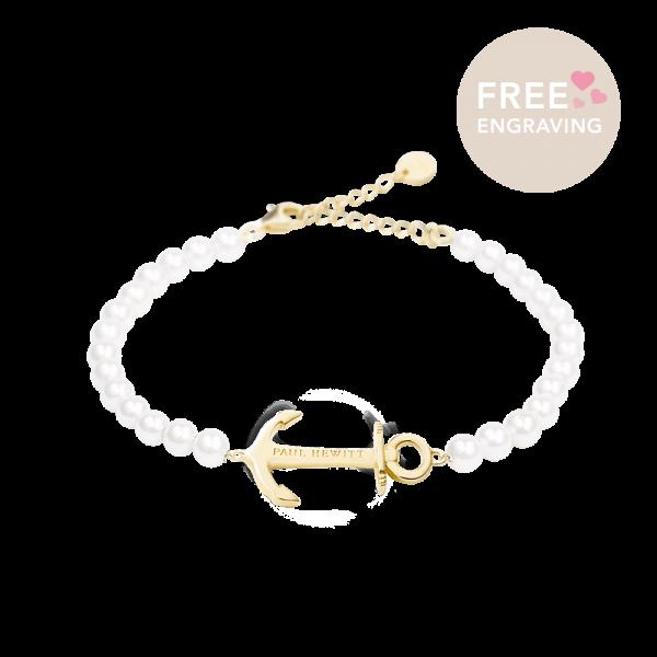Bracelet Anchor Spirit Gold Pearl