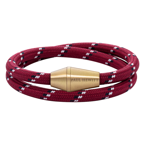 Bracelet Conic Wrap Brass Nylon Red Black White