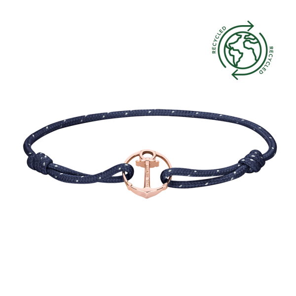 Bracelet Re/Brace Rose Gold Navy Blue
