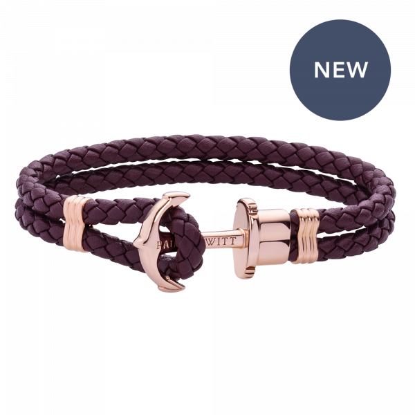 Anchor Bracelet Phrep Rose Gold Dark Mauve