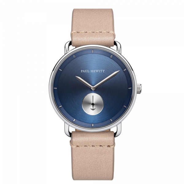Watch Breakwater Navy Sunray Silver Leather Sandstone