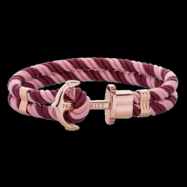 Bracelet Ancre Phrep Or Rose Nylon Aurora Dark Berry
