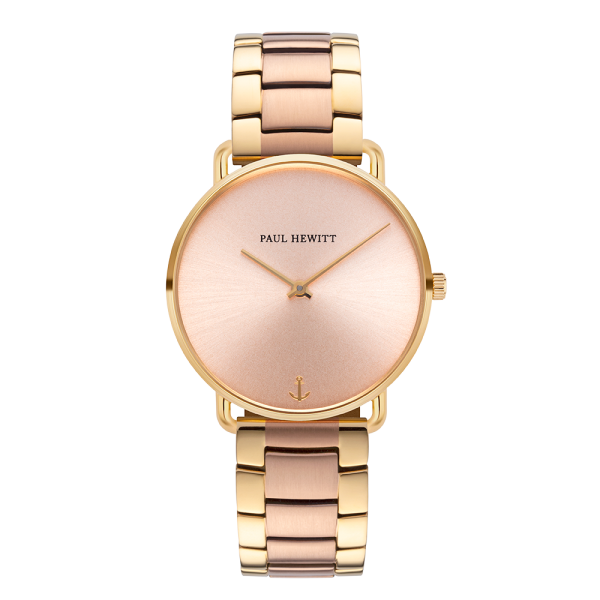 Montre Miss Ocean Rose Sunray Or Métallique Bicolor Or Rose Or