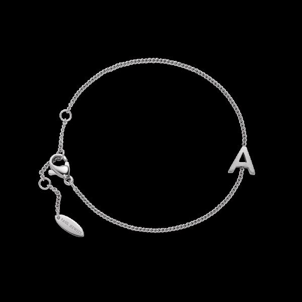 Armkette Love Letter A-Z Silber