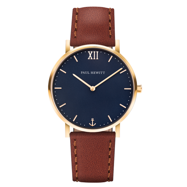 Watch Sailor Blue Lagoon Gold Leather Brown