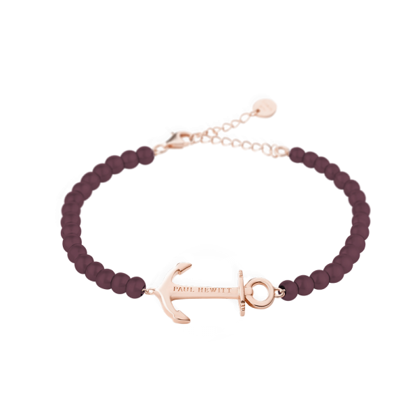 Bracelet Anchor Spirit Or Rose Dark Mauve