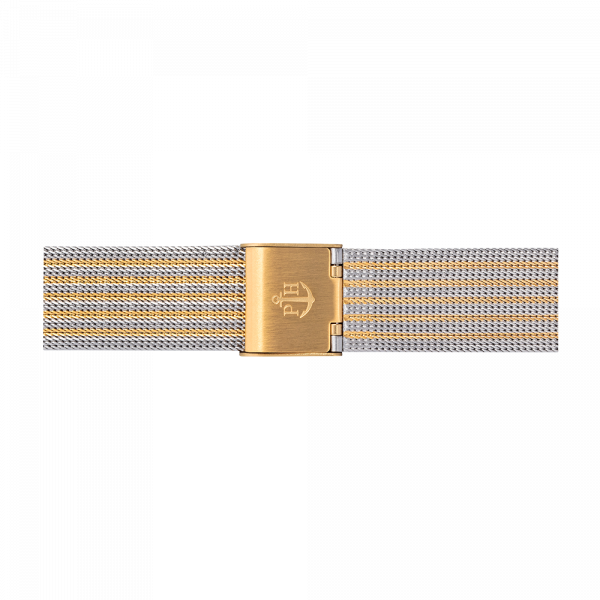 Watch Strap Mesh Bicolor Gold Silver 16 mm