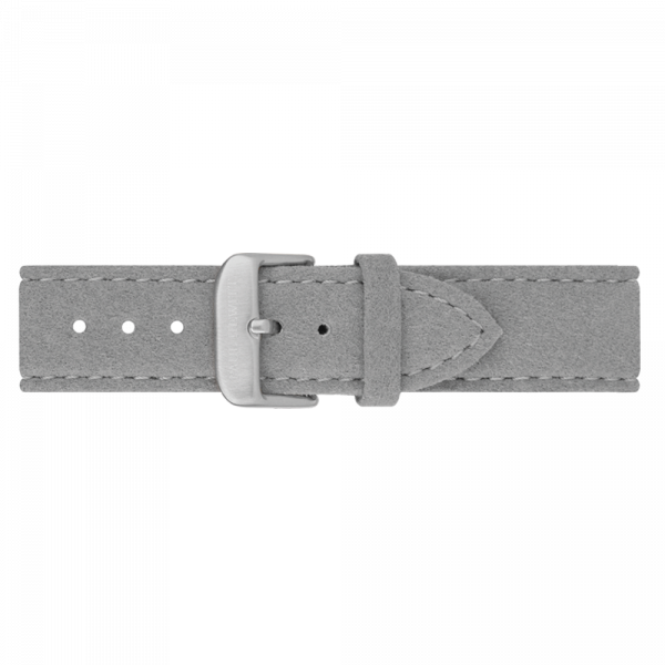 Watch Strap Alcantara Silver Grey 20 mm