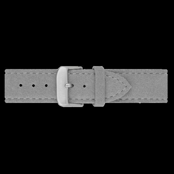 Uhrenarmband Alcantara Silber Grau 20 mm