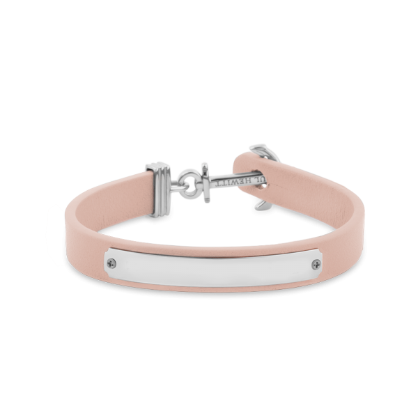 Anchor Bracelet Signum Silver Leather Nude