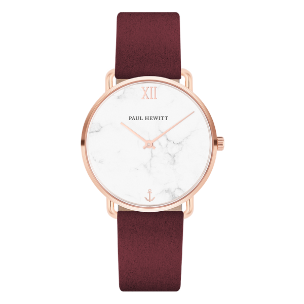 Watch Miss Ocean Marble Rose Gold Alcantara Dark Berry