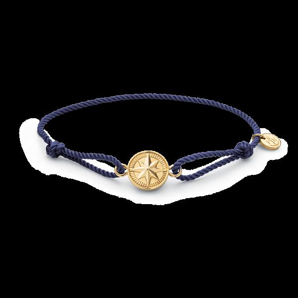Armband Windrose Gold Navy