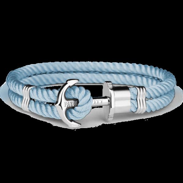Anchor Bracelet Phrep Silver Nylon Niagara
