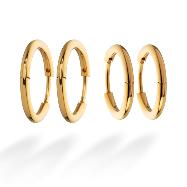 Ohrringe Horizon Hoops Set Gold