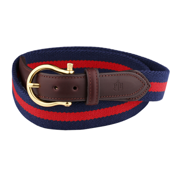 Belt Canvas Fabrics Navy Blue Red
