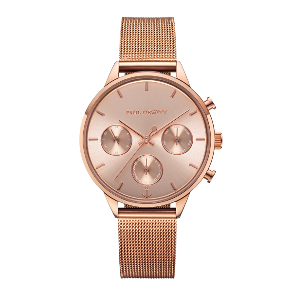 Montre Everpulse Rose Sunray Or Rose Mesh