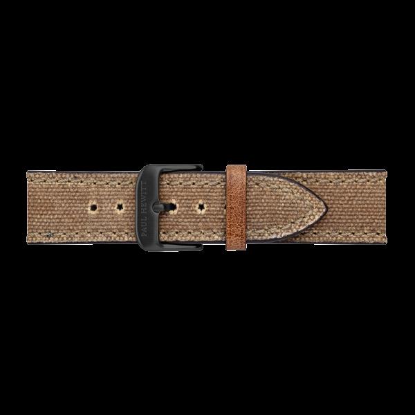Cinturino Canvas Nero Desert 20 mm