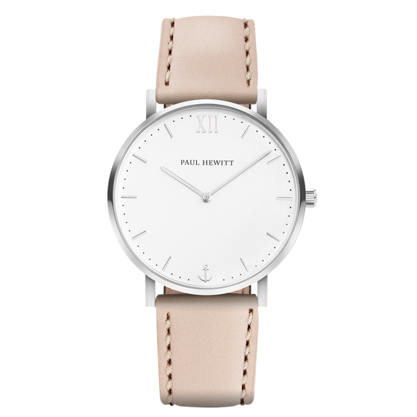 Watch Sailor White Sand Silver Leather Hazelnut