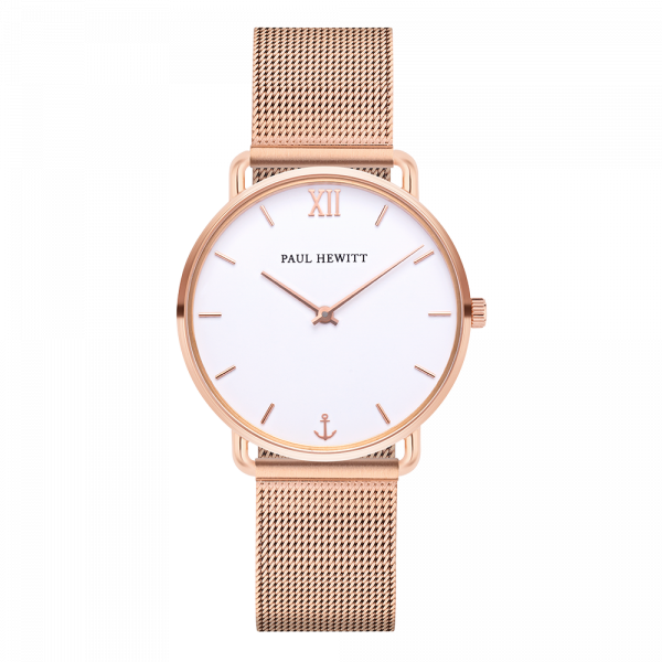 Montre Miss Ocean Paperwhite Or Rose Mesh