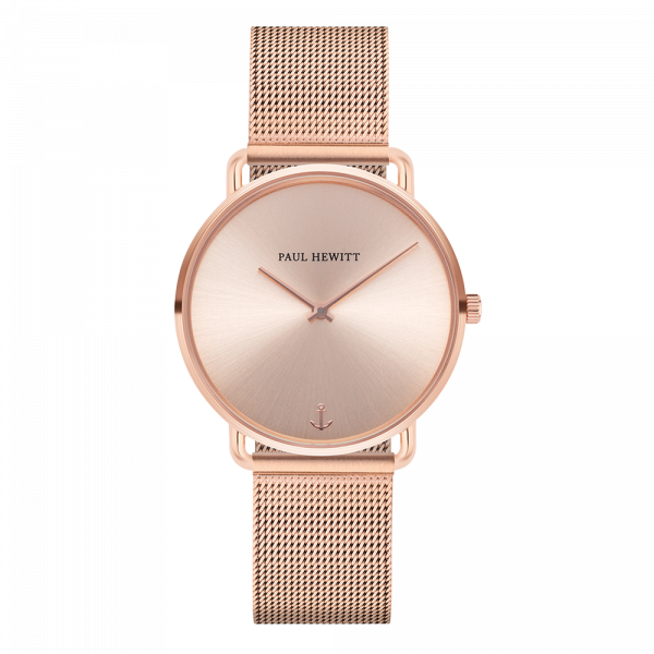 Montre Miss Ocean Rose Sunray Or Rose Mesh