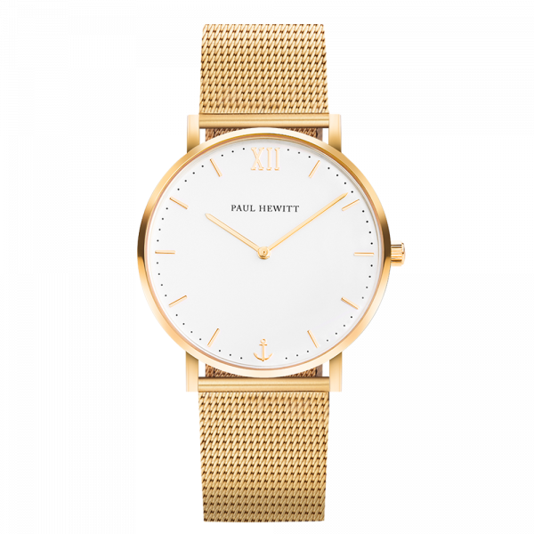 Uhr Sailor White Sand Gold Mesh
