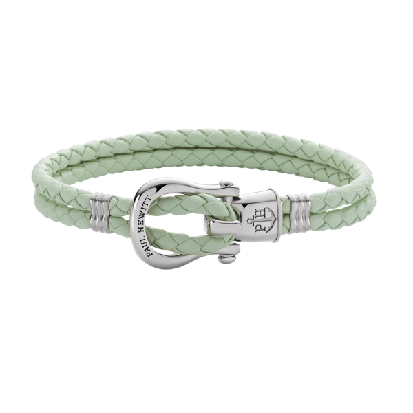 Bracelet Phinity Silver Leather Mint