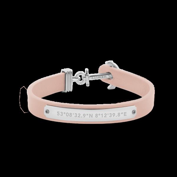 Ankerarmband Signum Silber Leder Nude