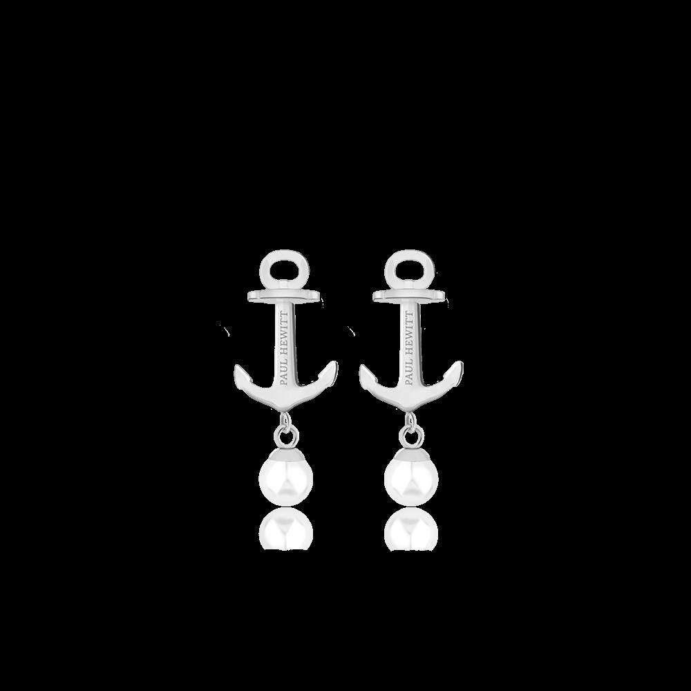 Boucles d'oreilles anchor pearl argenté pearl