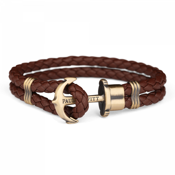 Anchor Bracelet Phrep Brass Brown