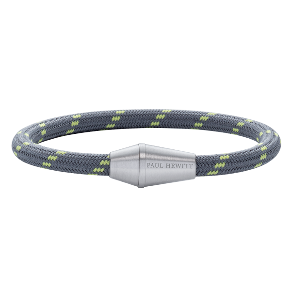Bracelet Conic Silver Nylon Grey Green