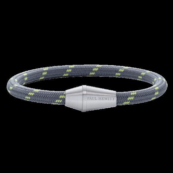 Armband Conic Silber Nylon Grau Grün