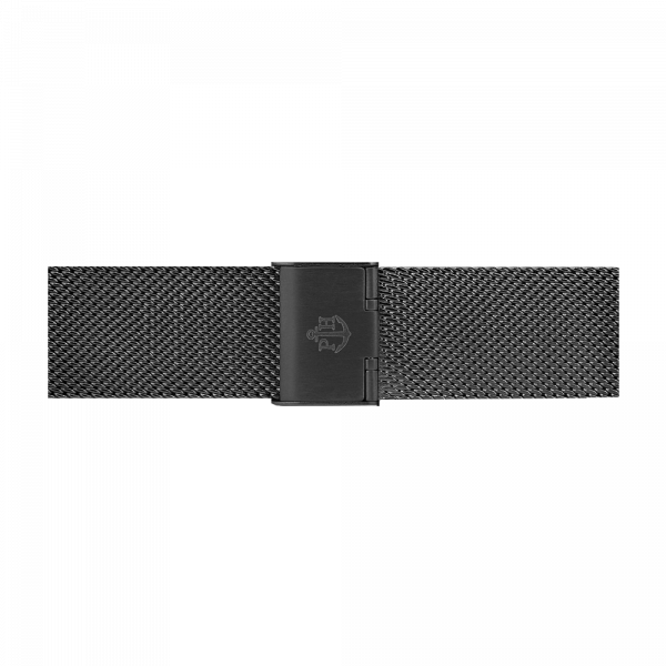 Watch Strap Mesh Black 20 mm