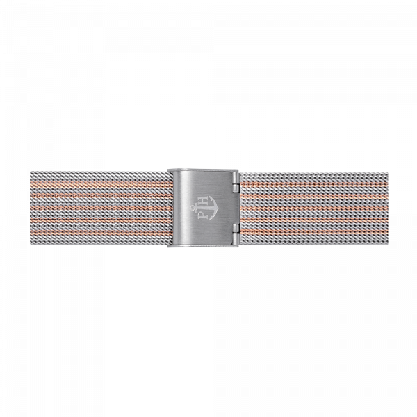 Watch Strap Mesh Bicolor Rose Gold Silver 16 mm