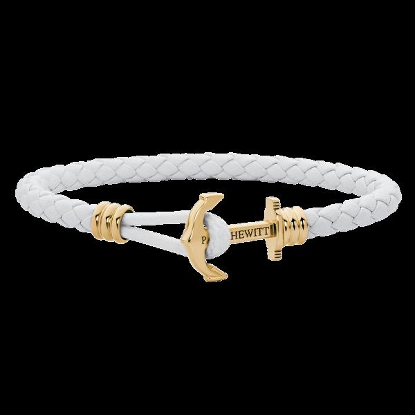 Ankerarmband Phrep Lite Gold Leder Weiß