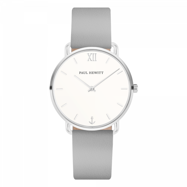 Watch Miss Ocean White Sand Silver Leather Graphite