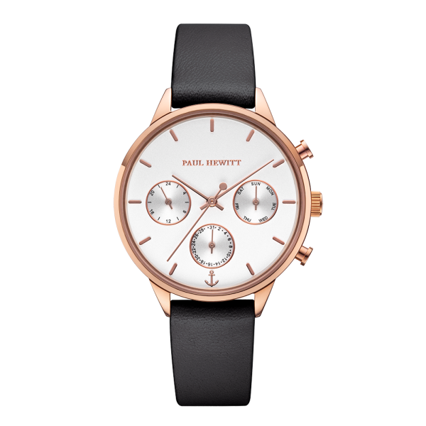 Watch Everpulse White Sand Rose Gold Leather Black